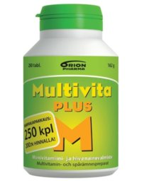 MULTIVITA PLUS MONIVITAMIINI 250 TABL